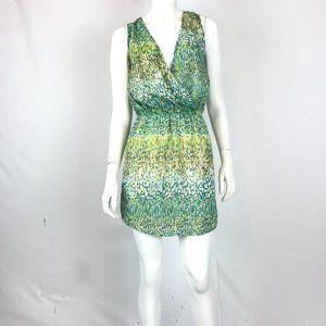Karen Zambos Wrapped Bodice Dress